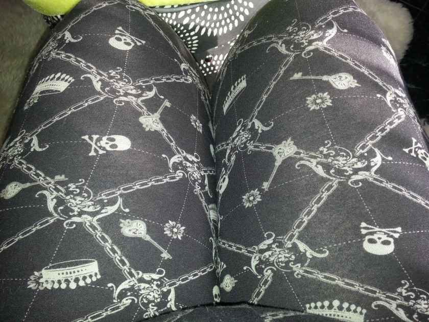 My baddass skull and crossbones piratesque leggings, which I was wearing as pants, as I always do.